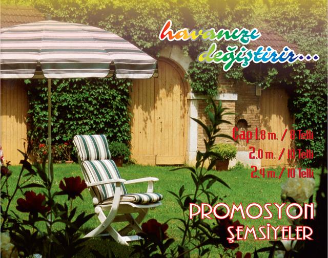 Promosyon Bahçe Şemsiyeleri